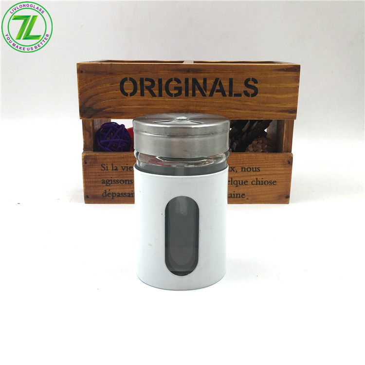 60ml 2oz Glass Spice Salt Pepper Jar With Metal Screw Cap And Shaker Featured Image