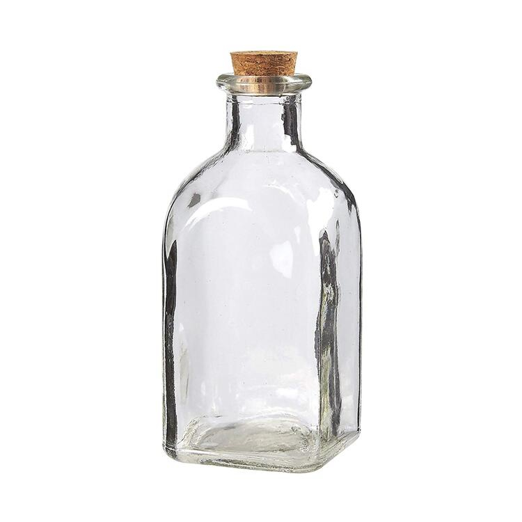 Clear Glass Bottles Cork Lids Stoppers for Vintage Wedding Decoration DIY Home Party Favors