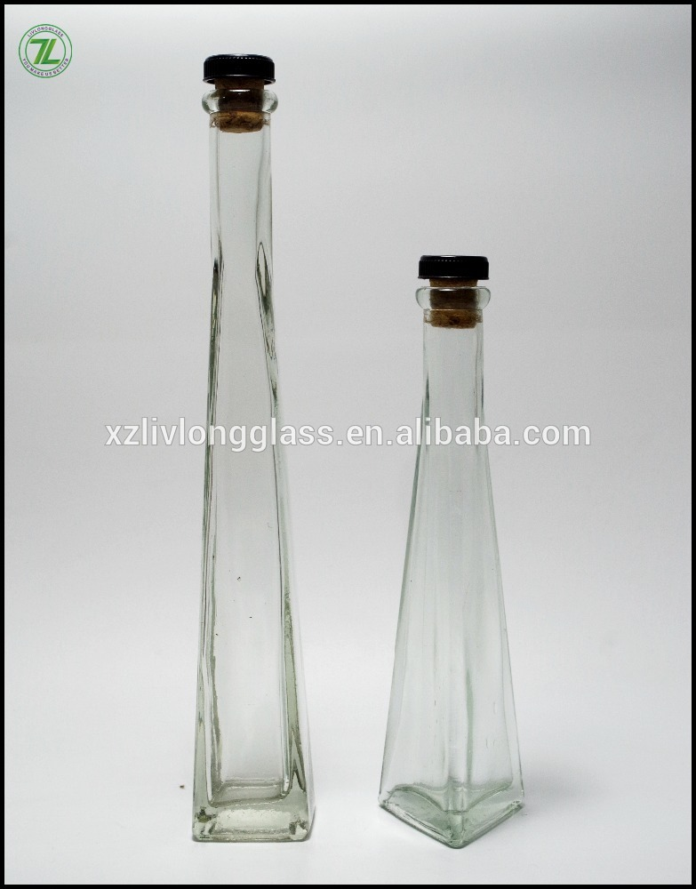 LONG NECK Clear Cork Stopper Glass Bottle for Cooking Oil and Fruit Wine