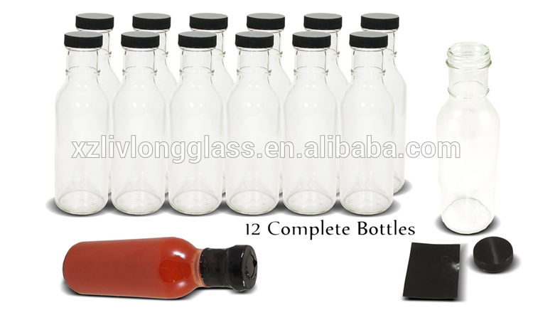 Wide Mouth Empty Sauce Bottle 12oz