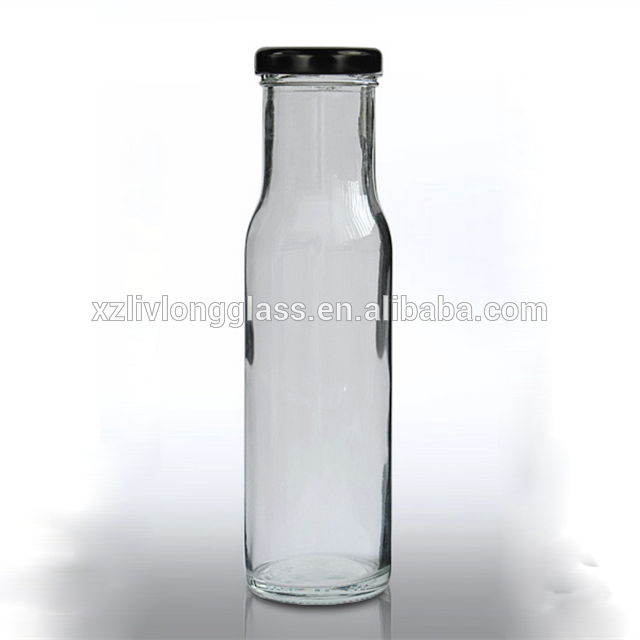 8oz Round Clear Glass tomato Sauce Bottle