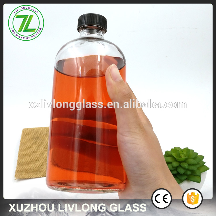 Factory Cheap Fruit Carton Box - sealing lids type 250ml 350ml 500ml clear boston round glass bottle for juice – LIVLONG
