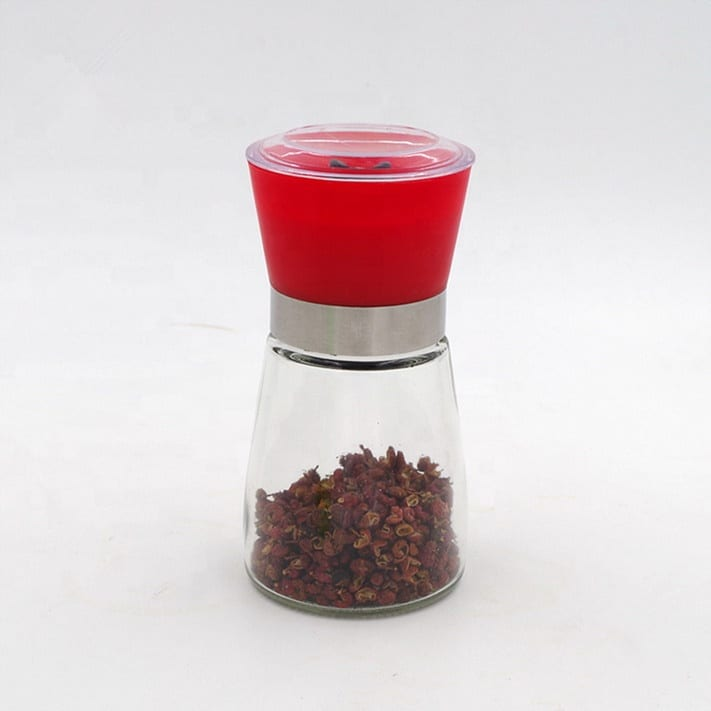 convince  wholesale household pepper  mill grinder glass spice  bottle