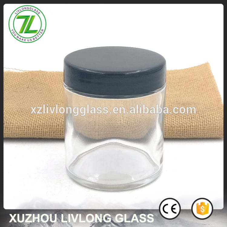 120ml straight sided jar 4oz food glass container with plastic lids