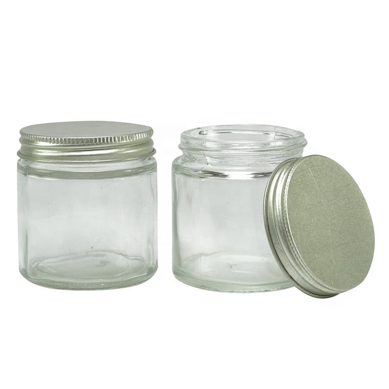 4 OZ Empty Clear Glass Mason Jar Refillable Cosmetic Containers Wholesale