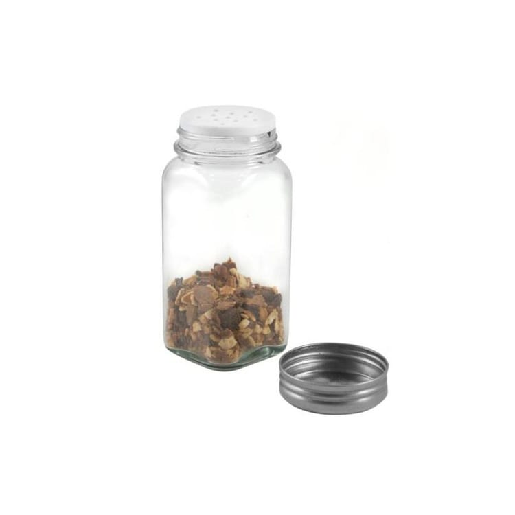 custom design 120ml square kitchen salt jar 4oz glass spice jar with metal lid Featured Image