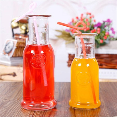 Best Price onMilk Tea Metal Straw - Wholesale ice orange drink bottle cold tea juice bottle glass cork pipette 500ml glass bottle – LIVLONG