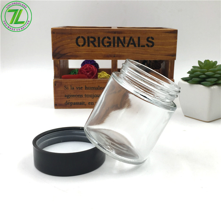 4oz 8oz 120ml 240ml Glass Child Proof Jar Straight Sided Glass Weeds Jar With Child Resistant Lid
