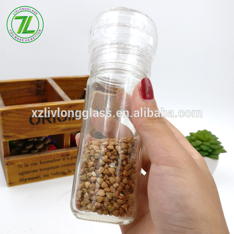 free samples 4oz herbs and black pepper bottle 100ml glass spice grinder for sale