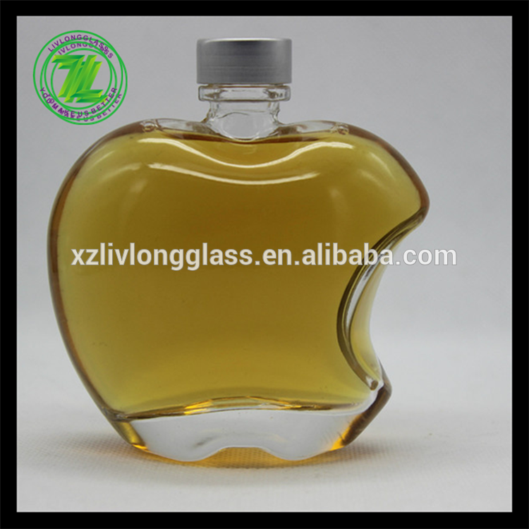 apple shaped top quality perfume glass bottle