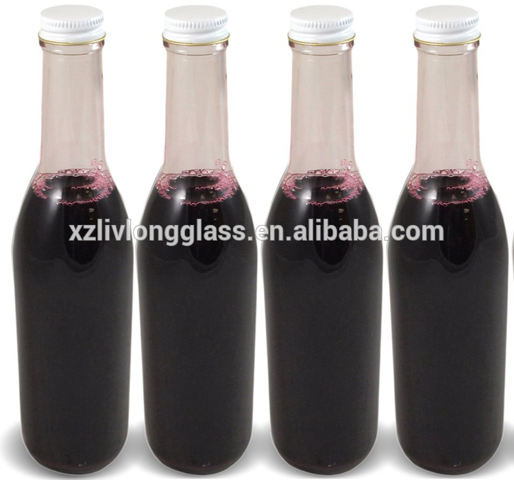 12oz Complete Woozy Bottles for Juice Sauce with Metal Lids