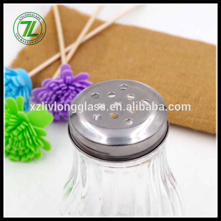 new design 210ml dressing jar 7oz spices packaging glass bottle with stainless cap