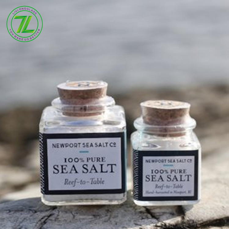customize 30ml glass bottle 1oz empty sea salt jar with cork tops