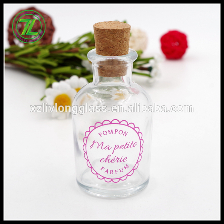 Reasonable price Glass Mason Jar With Screw Lid - 70ml glass round reed diffuser bottle with logo printed – LIVLONG