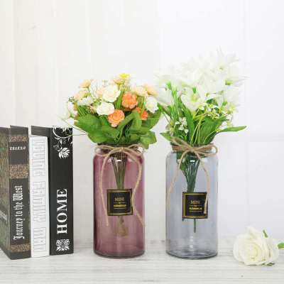 Modern minimalist small glass bottle decoration Home living room decoration Creative dried flower  350ml 500ml 600ml