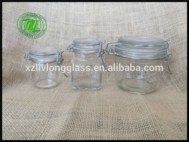 Glass Clip Top Storage glass Jar