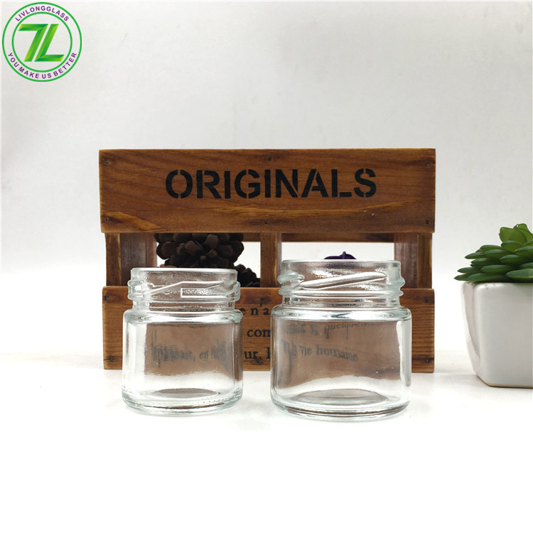 1oz 30ml Glass Mini Mason Jar With Metal Screw Lids