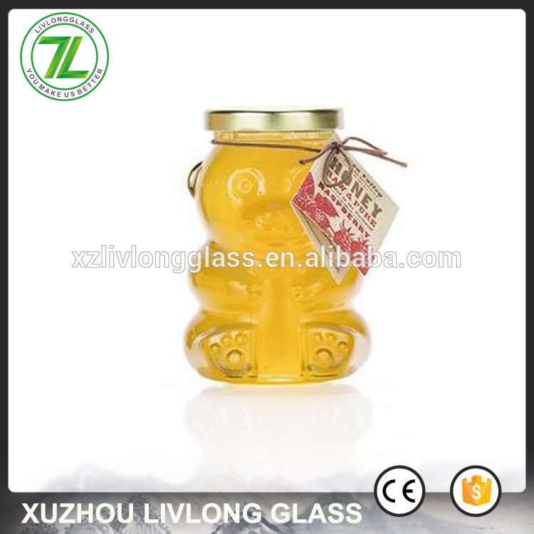 Super Purchasing for Cosmetic Cream Glass Jars - fancy designs 350g honey bottle 250ml 10oz bear shaped glass jar with lids – LIVLONG