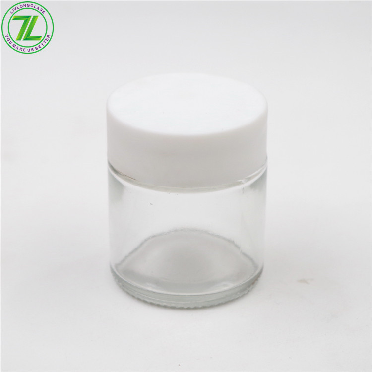 2oz 3oz Glass Straight Sided Weeds Jars Child Resistant Container With Child Proof Lids