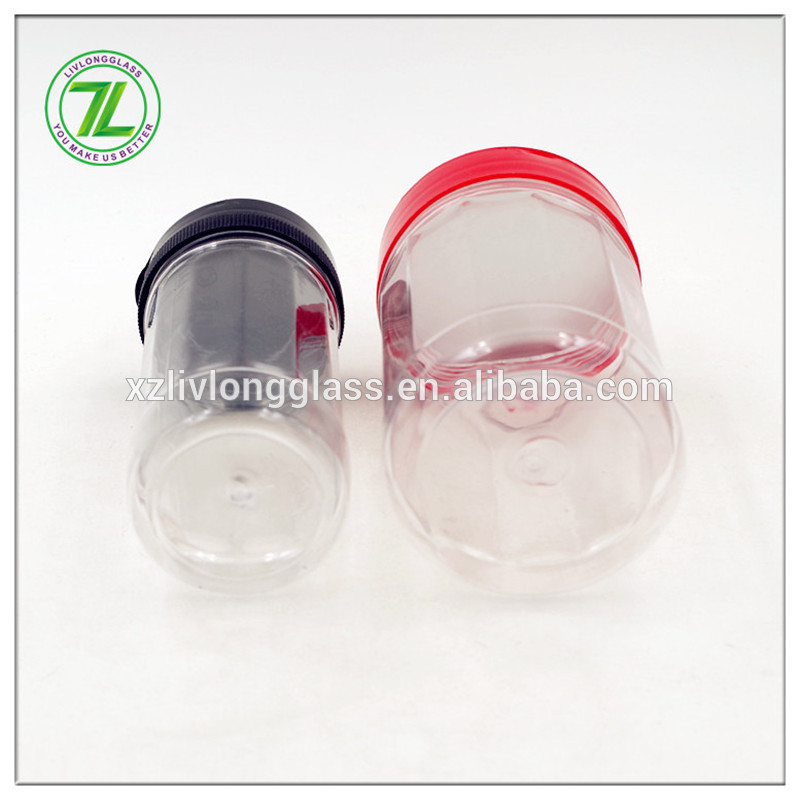 150ml 250ml Clear Glass Round Spice Jars With Shaker