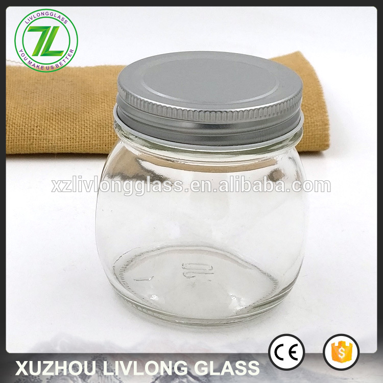 jelly and marmalade use 250ml 8oz wide mouth glass jar with silver tops