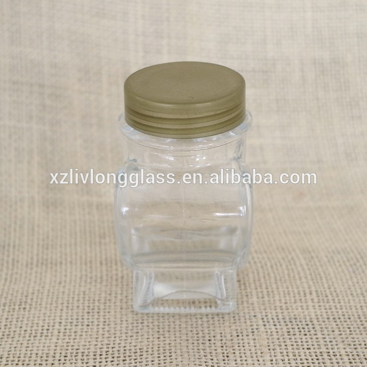 mini heart shape glass candy jar