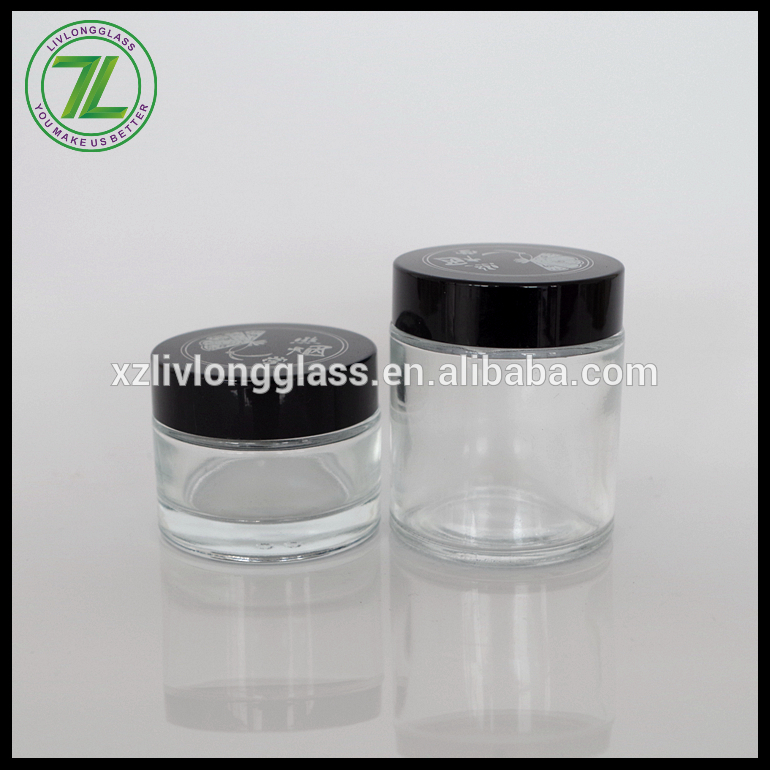 1oz 2oz Glass Cosmetic Jar Container Ointment Cream Jar