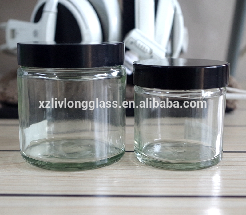 60ml 120ml Straight Sided Glass Jar with Lid