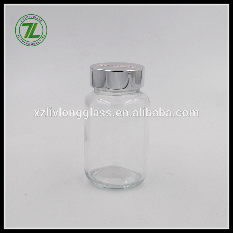100ml glass tablet jar pill bottle with alumina lid