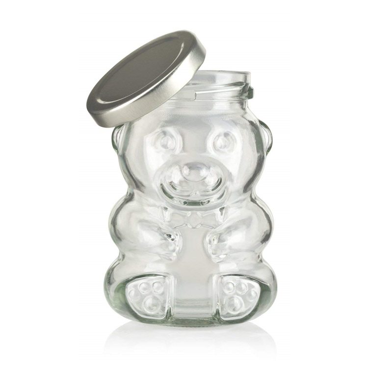 Factory Cheap Fruit Carton Box - wholesale  teddy bear shaped  frosco vidrio  glass bottle honey bee candy sugar chocolate glass jar with lug lid wood dipper8oz – LIVLONG