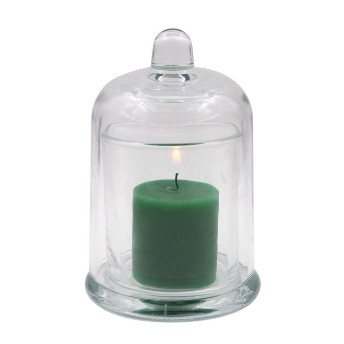 hot sale 8oz candle glass holder 250ml candle jars glass with glass dome