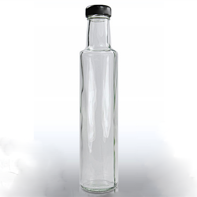 250ml Tall Slim Clear Glass Dressing Bottle