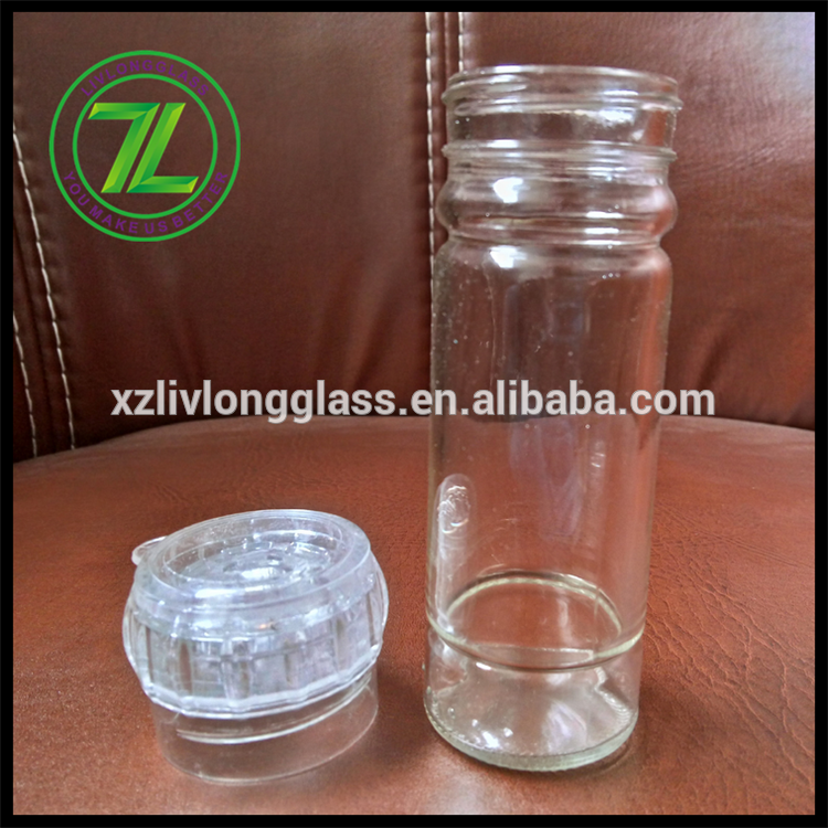 100ml round tall clear spcie and salt mill Featured Image
