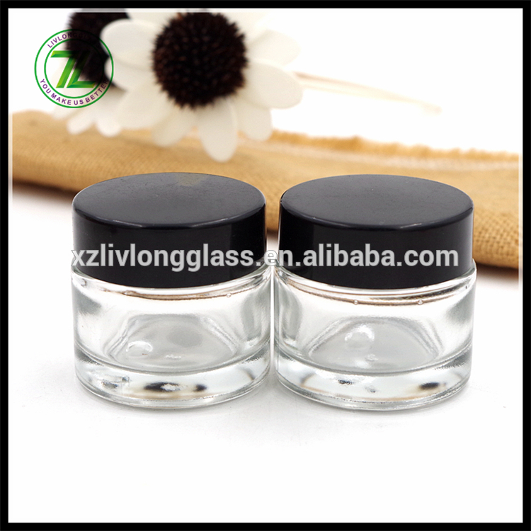 China Factory for Matte Finish Glassbottles - 1oz marijuana straight sided glass jar child proof cap – LIVLONG