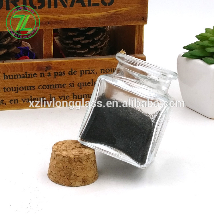 spices packaging 50ml pepper bottle 2oz square glass jar for salt crystal