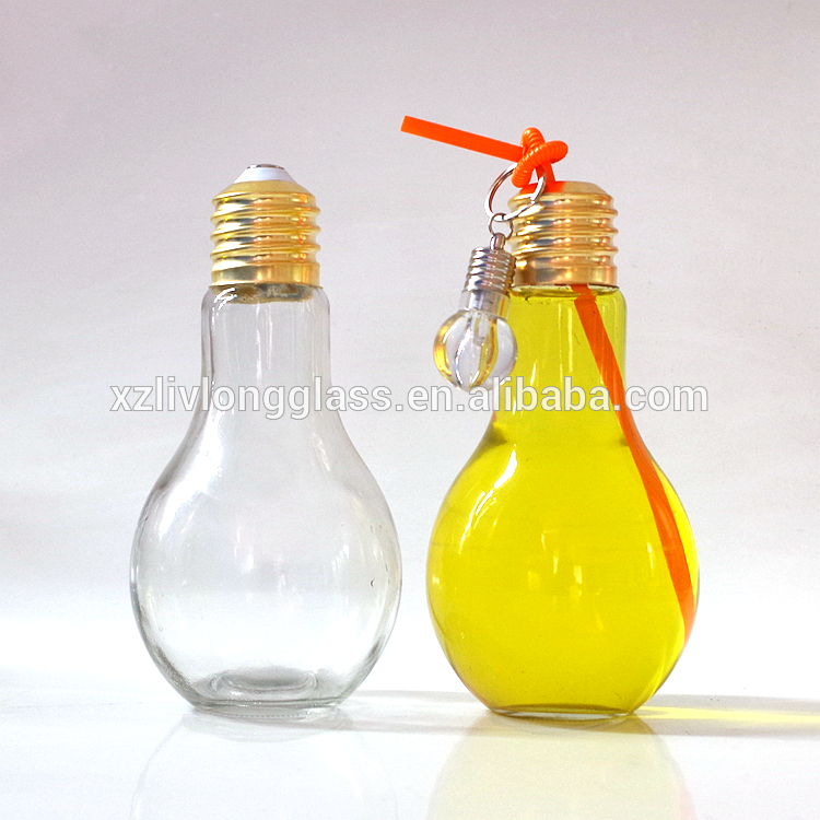 OEM China 1oz Skin Care Cream Glass Container - light bulb shaped bottle with alu cap – LIVLONG