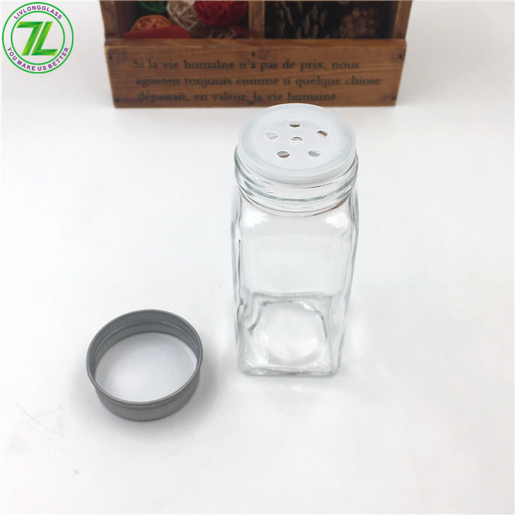 4oz Glass Spice Jar For Pepper Salt With Screw Lid And Shaker