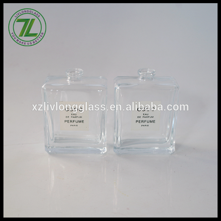 hihg quality 50ml 100ml flat square paris perfume bottle