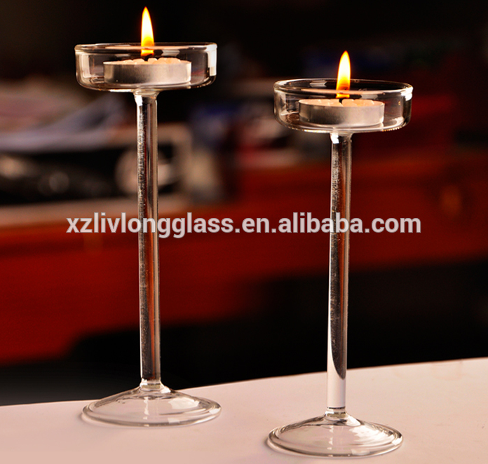 wedding decorative glass candle holder glass candle jar candlestick