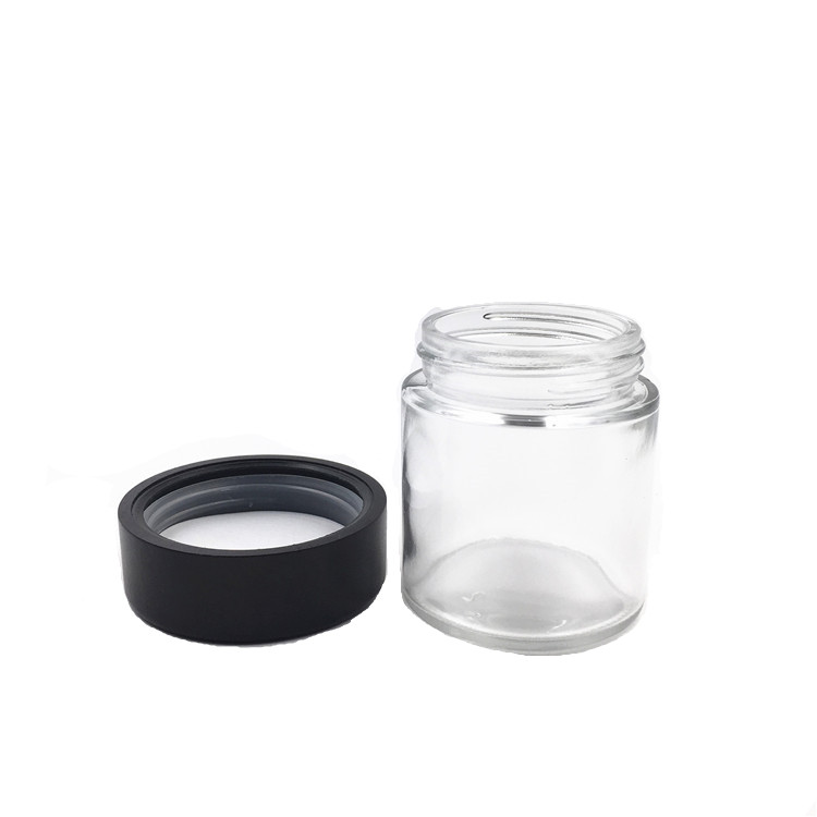 4oz Childproof Glass Jars Weeds Container With Child Resistant Bamboo Lids