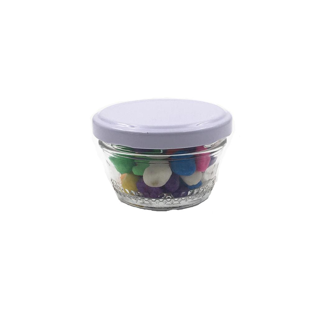 Customized Packaging 1.5oz Caviar Glass Jar With Metal Cap