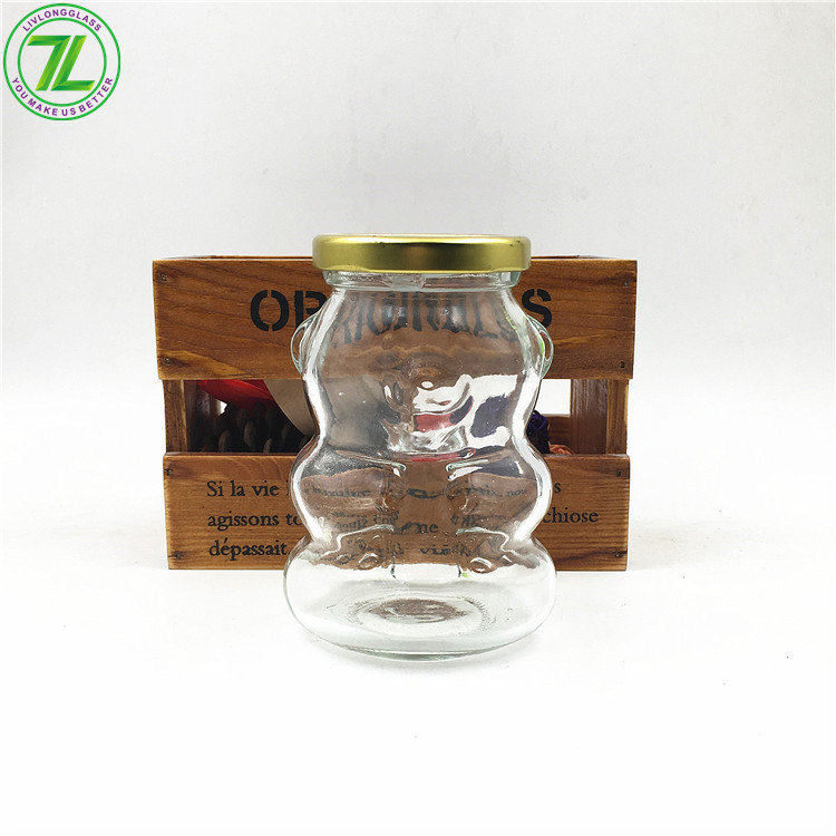 250ml 8oz Animal Shaped Glass Bottle With Screw Cap