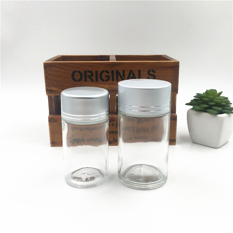 Renewable Design for Matt Glass Bottles - Round Clear Food Grand Glass Jar For Candy With Aluminium Cap – LIVLONG Featured Image