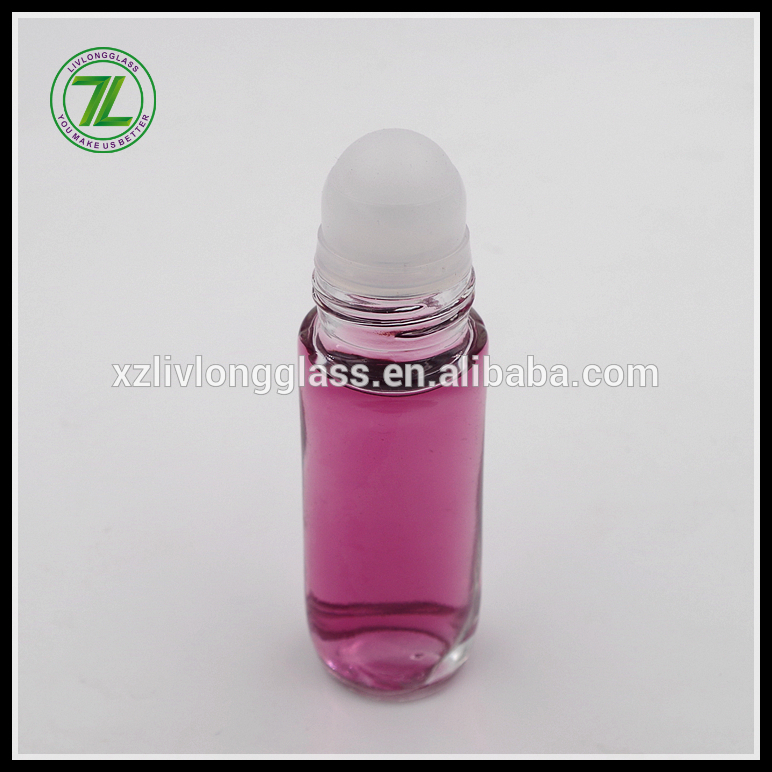 45ml glass deodorant bottle glass roller bottle with cap