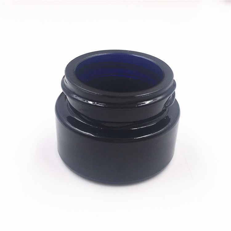 7ml UV Protection Dark Blue Child Resistant Glass Jar With Childproof Lid