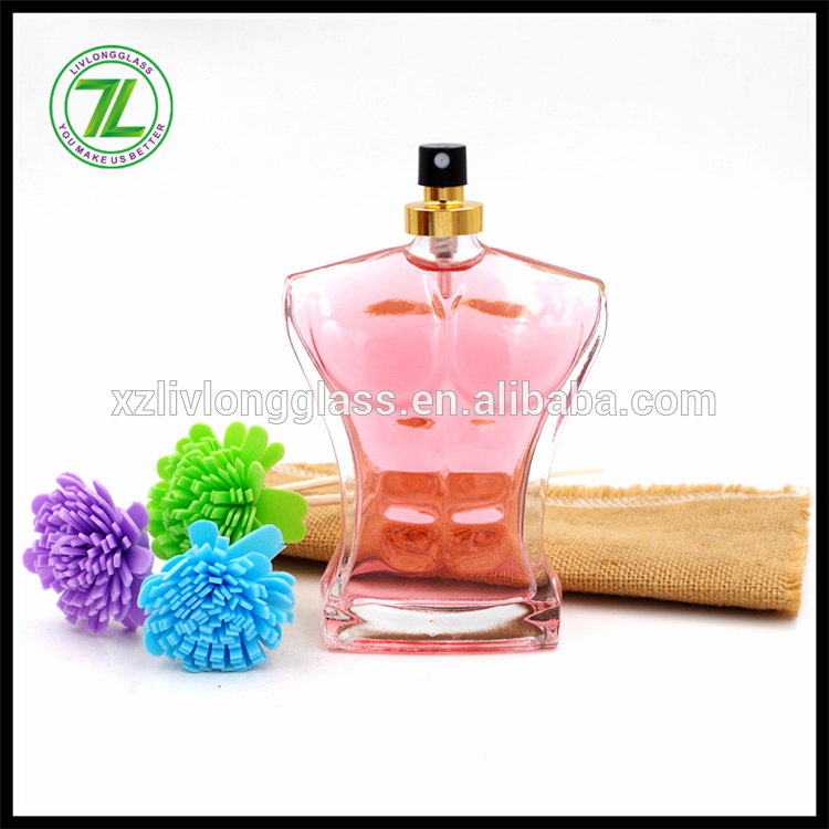 100ml Man Body Shaped Clear Glass Bottle Perfume