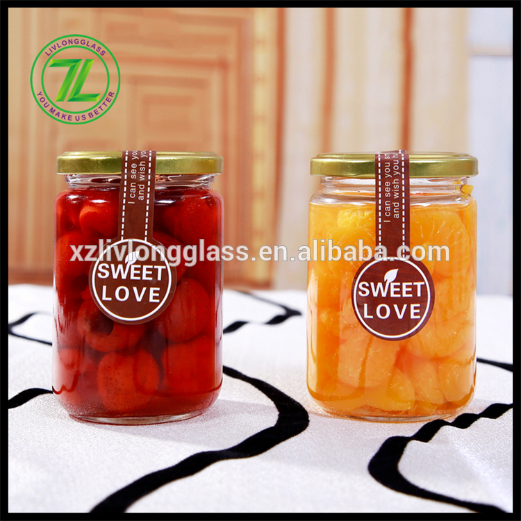 240ml glass mason jar with tin lid