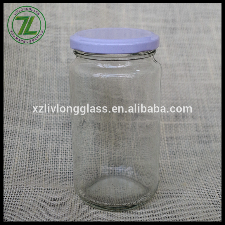 white twist off lid sealing type 330ml cylinder packaging 11oz clear glass jar for masala spices Featured Image
