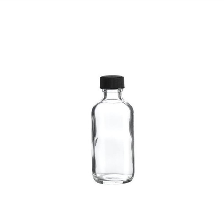16oz Clear Glass Boston Round Dispenser Bottles With Plastic top Featured Image