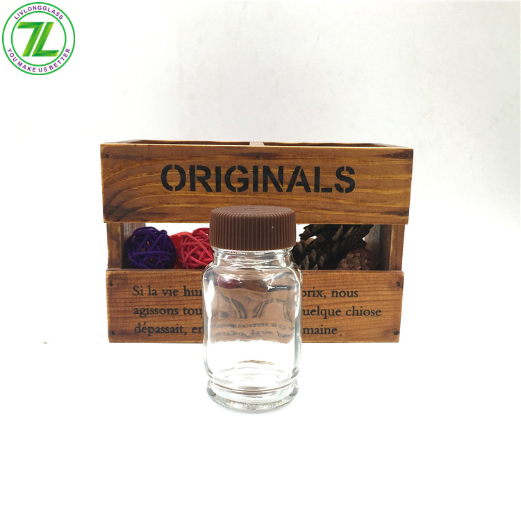 50ml Glass Round Spice Jar For Salt Pepper With Shaker Screw Cap Featured Image